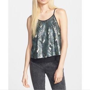 ASTR the Label Peacock Sequin Tank